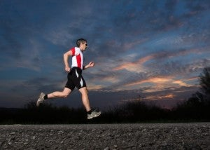 runner in the twilight