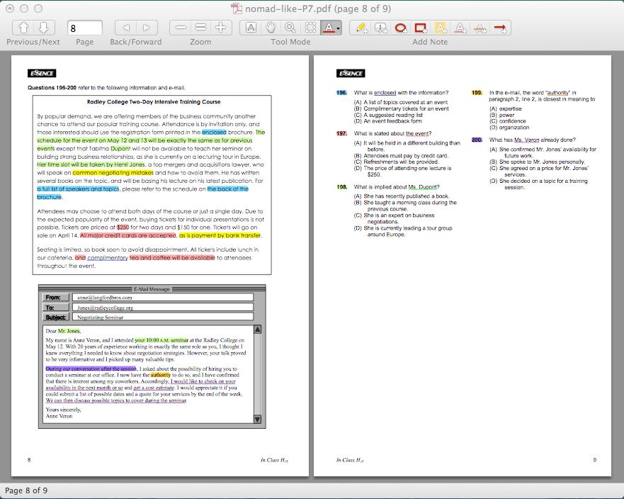 PDFでマーカーの色塗り