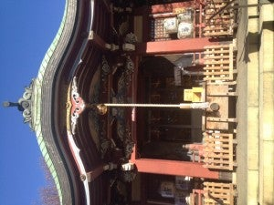 TOEIC受験前にハイスコア祈願 千住本氷川神社